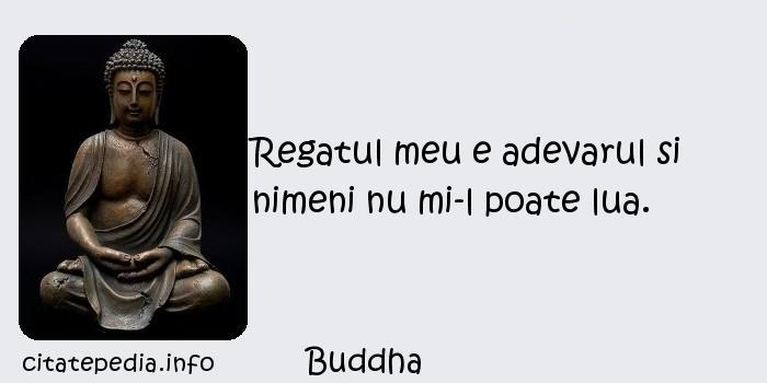 Buddha - Regatul meu e adevarul si nimeni nu mi-l poate lua.