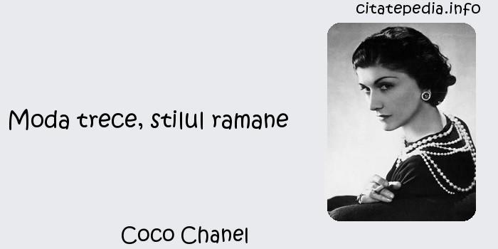 Coco Chanel - Moda trece, stilul ramane