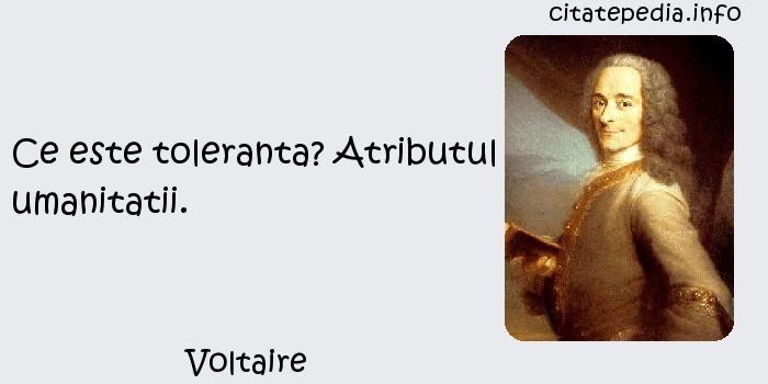 Voltaire - Ce este toleranta? Atributul umanitatii.