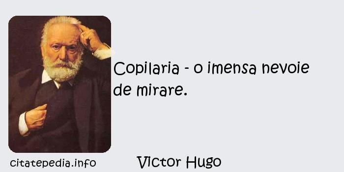 Victor Hugo - Copilaria - o imensa nevoie de mirare.