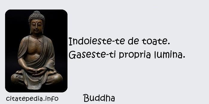 Buddha - Indoieste-te de toate. Gaseste-ti propria lumina.