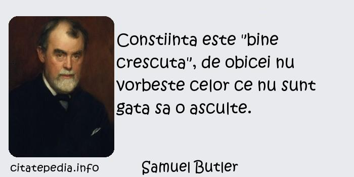 Samuel Butler - Constiinta este