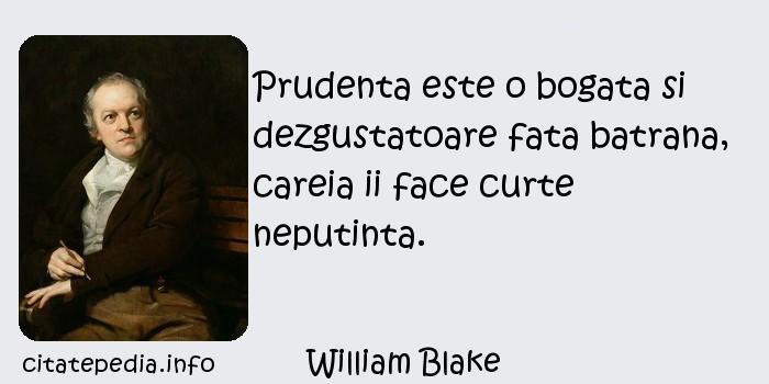 William Blake - Prudenta este o bogata si dezgustatoare fata batrana, careia ii face curte neputinta.
