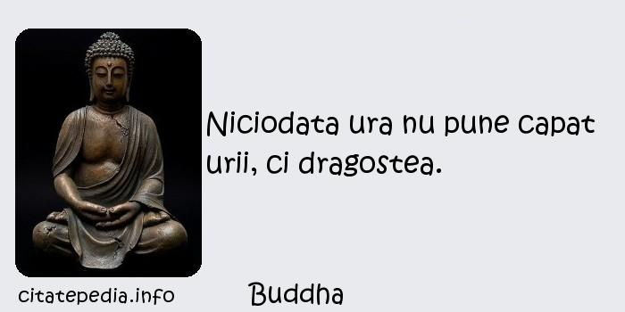 Buddha - Niciodata ura nu pune capat urii, ci dragostea.