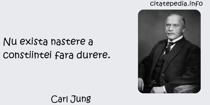 Carl Jung - Nu exista nastere a constiintei fara durere.