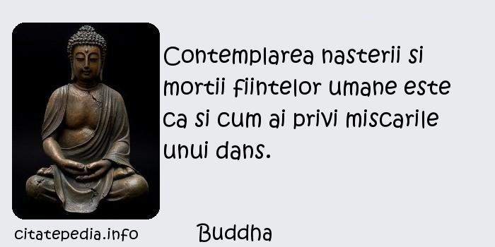Buddha - Contemplarea nasterii si mortii fiintelor umane este ca si cum ai privi miscarile unui dans.