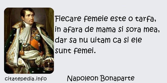 Citaten Napoleon : Citate celebre cugetari aforisme despre femei