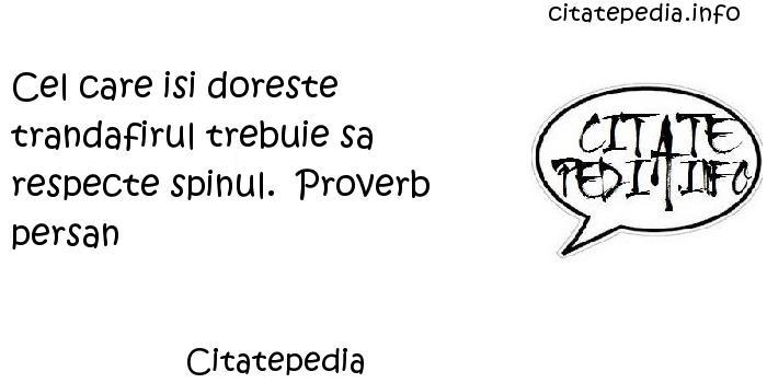 Citatepedia - Cel care isi doreste trandafirul trebuie sa respecte spinul.  Proverb persan