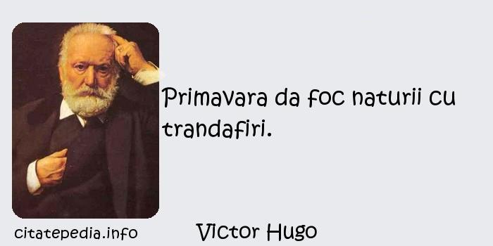 Victor Hugo - Primavara da foc naturii cu trandafiri.