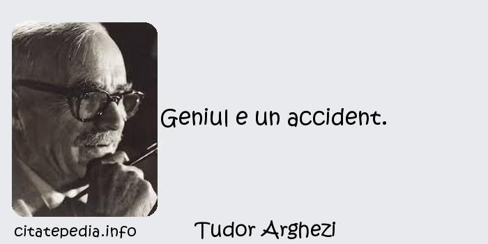 Tudor Arghezi - Geniul e un accident.