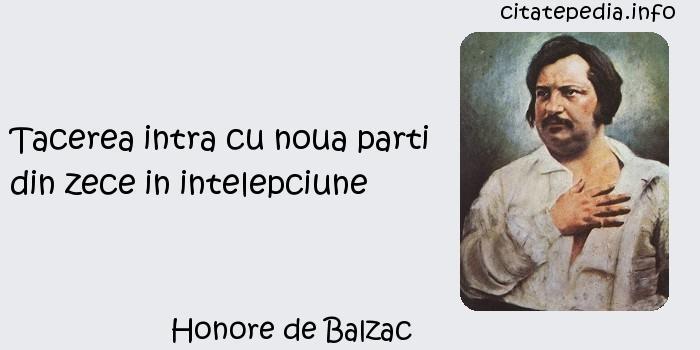 Honore de Balzac - Tacerea intra cu noua parti din zece in intelepciune