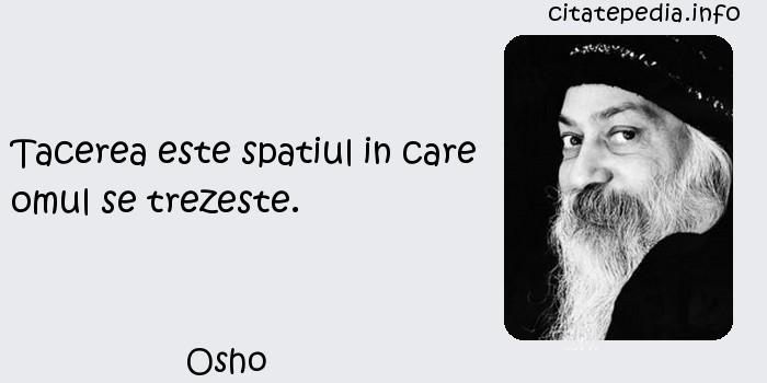 Osho - Tacerea este spatiul in care omul se trezeste.