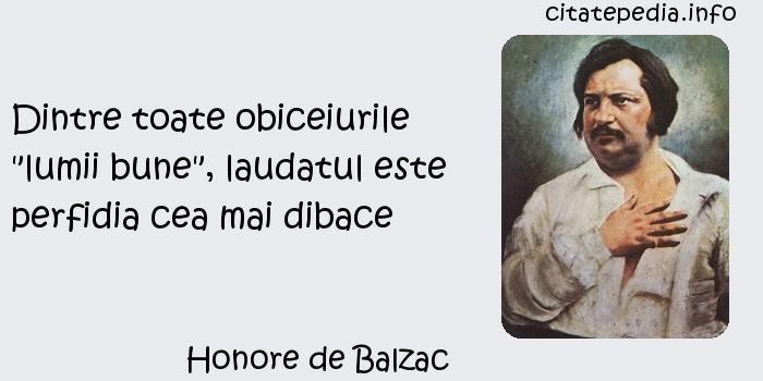 Honore de Balzac - Dintre toate obiceiurile
