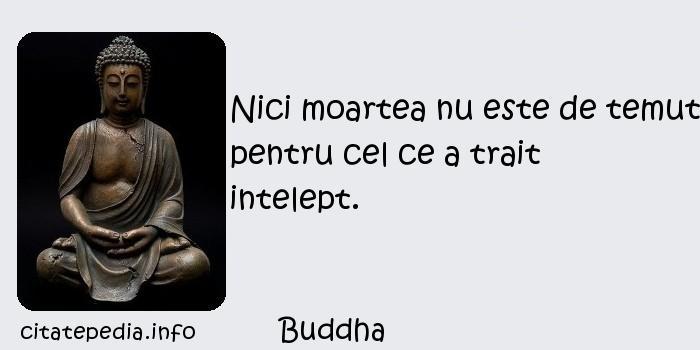 Buddha - Nici moartea nu este de temut pentru cel ce a trait intelept.