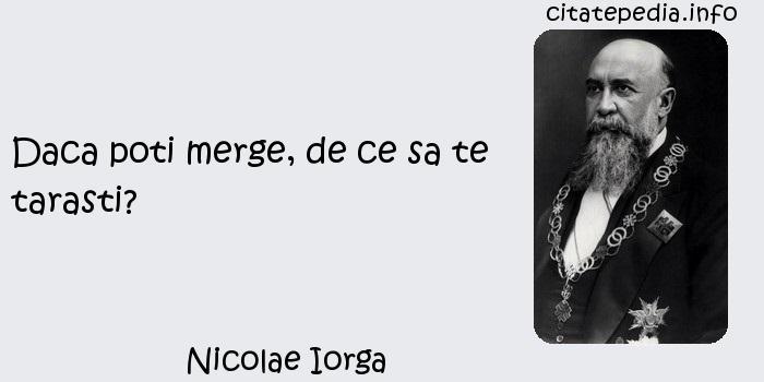 Nicolae Iorga - Daca poti merge, de ce sa te tarasti?