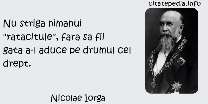 Nicolae Iorga - Nu striga nimanui