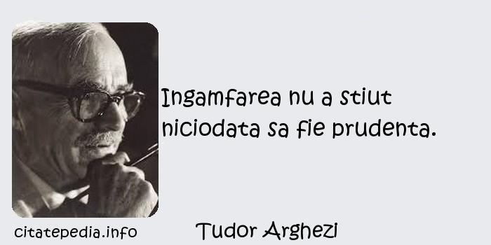 Tudor Arghezi - Ingamfarea nu a stiut niciodata sa fie prudenta.
