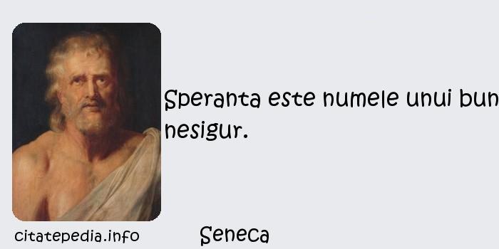 Seneca - Speranta este numele unui bun nesigur.
