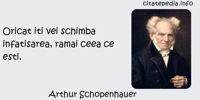 Arthur Schopenhauer - Oricat iti vei schimba infatisarea, ramai ceea ce esti.