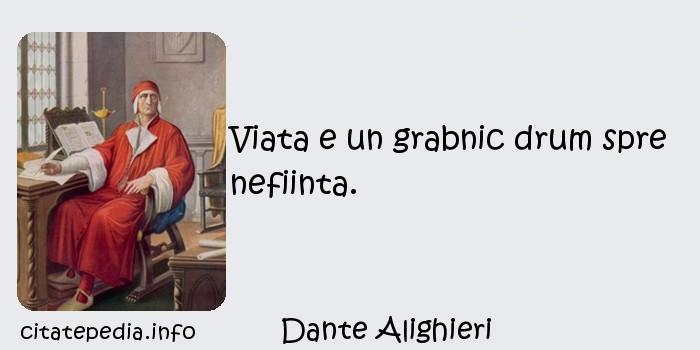 Dante Alighieri - Viata e un grabnic drum spre nefiinta.